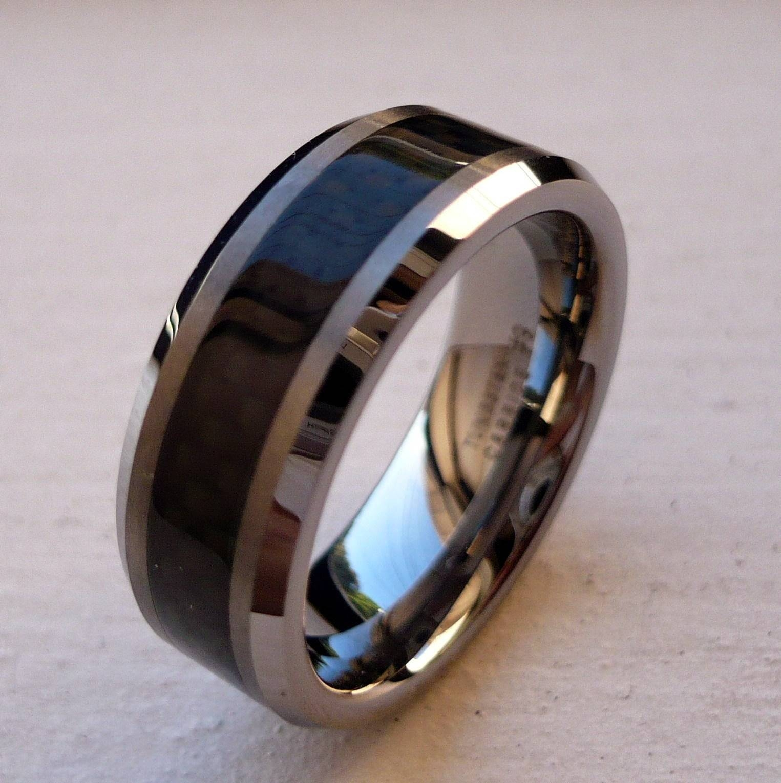 2018 Latest Matte Black Mens Wedding Bands