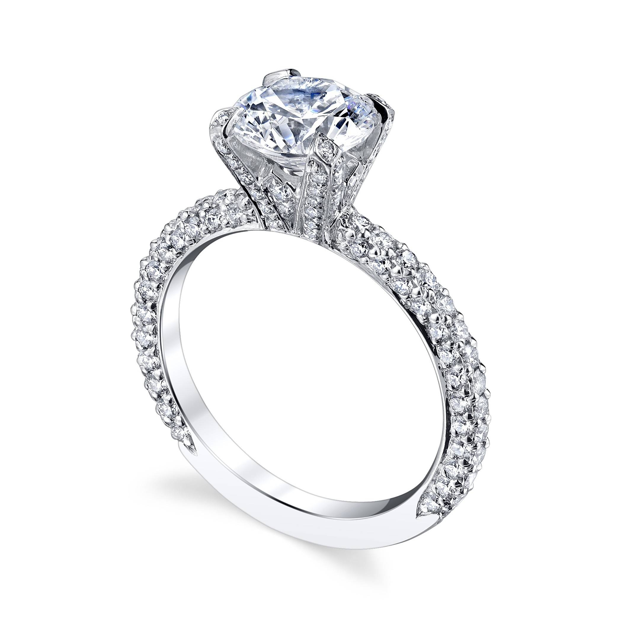 15 Best Collection Of Pave Engagement Ring Settings