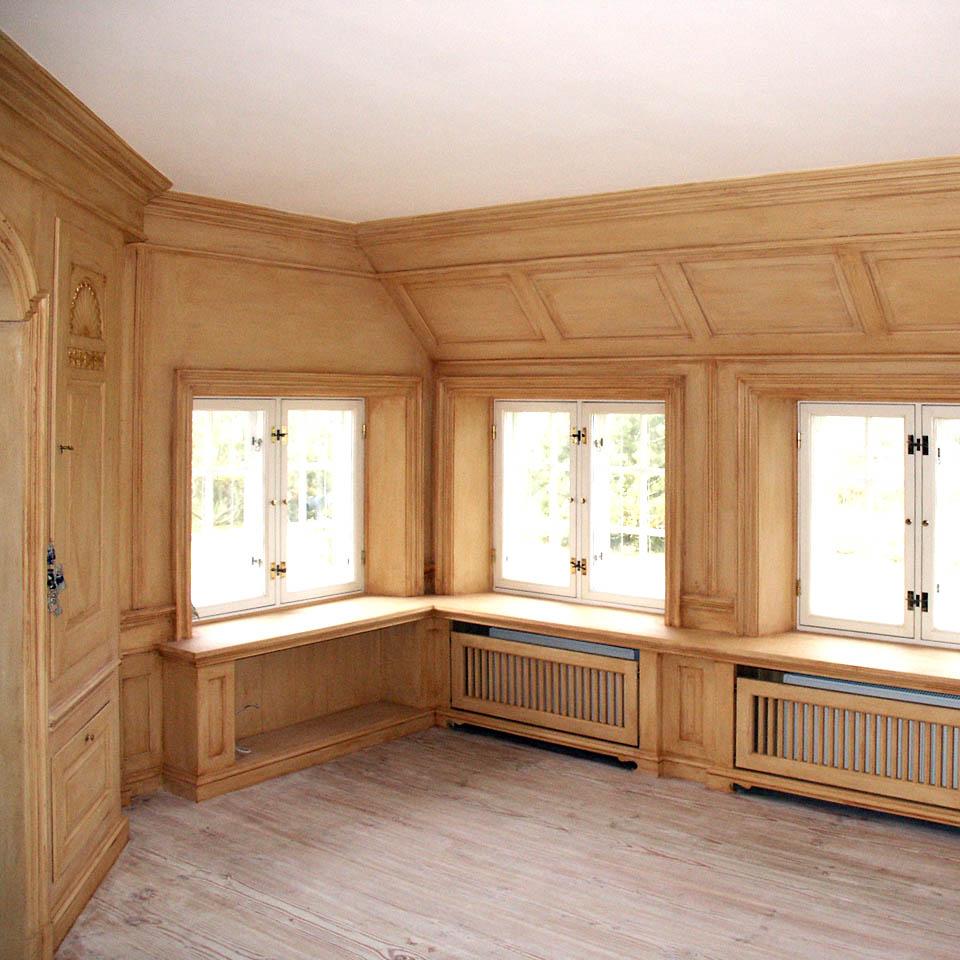 Fassmalerei Hamburg - gestaltetes Interieur mit gemalten und patinierten Wänden, Decken und Böden