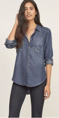 A & F Denim Button-up