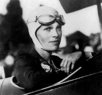 An undated photo of Amelia Earhart in the cockpit of an airplane. Go to related On This Day page » | Go to related Opinion piece »Credit Schlesinger Library, Radcliffe College, via Associated Press