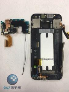 摔機的HTC M9 電源鍵凹陷 !! 自己拆機的後果 更換開機排線模組!! HTC 手機維修