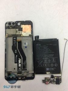 不開機的ASUS Z01HDA 檢測後是螢幕面板不顯示 原來是受潮了! ASUS 手機維修
