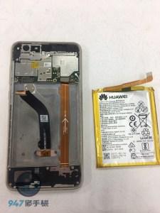 粉身碎骨的華為 NOVA LITE 滿目瘡痍的螢幕面板破裂不顯示了 ! 華為手機維修