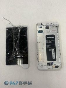 太認真做伸展操 ! 伸展到三星 J7 PRIME 螢幕面板破裂啦 ! 三星手機維修