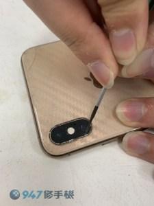 後鏡頭玻璃破裂的 IPHONE XS MAX 更換後鏡頭玻璃重生! iPhone 手機維修