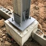 detalle fundaciones estructura acero