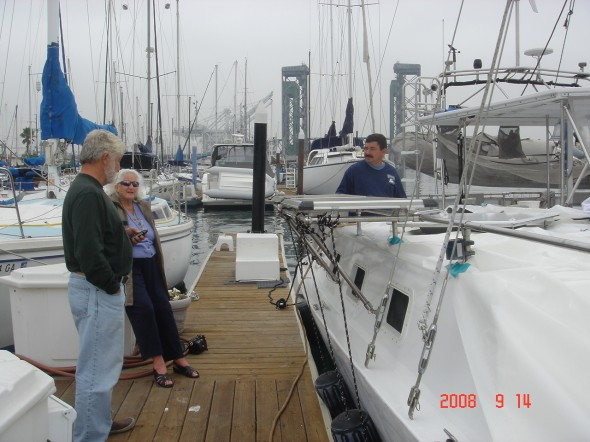 At the dock in Long Beach