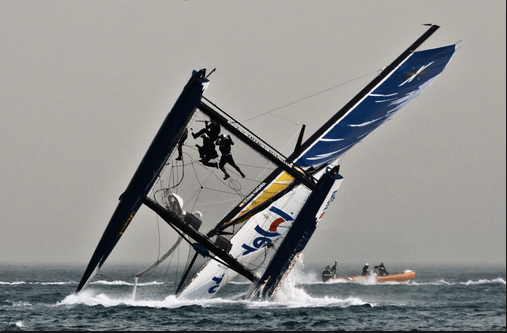 Another racing capsize