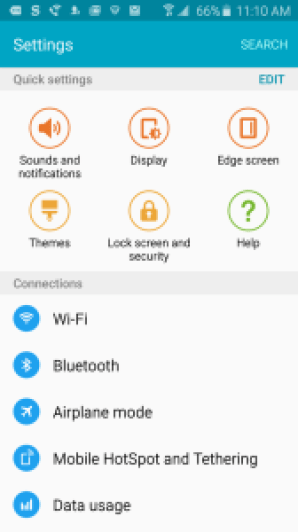 Connect Wi-Fi in Samsung Galaxy S7 Edge