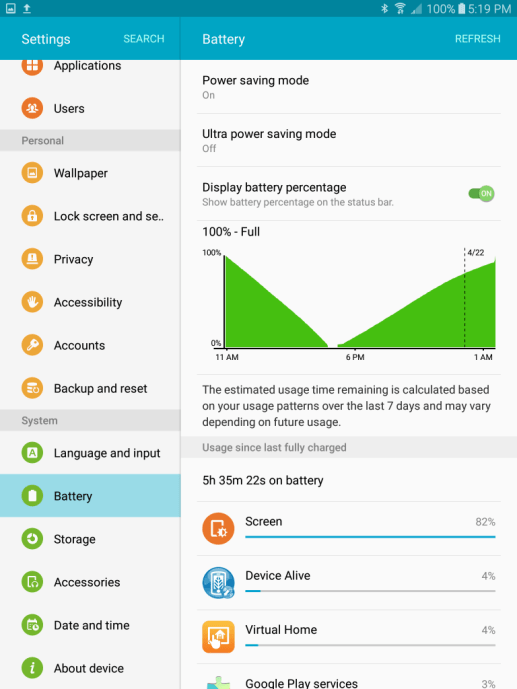 Fix Samsung Galaxy Tab S3 Poor Battery Life Issue