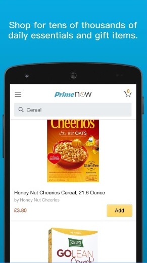 How to use Amazon Prime Now App