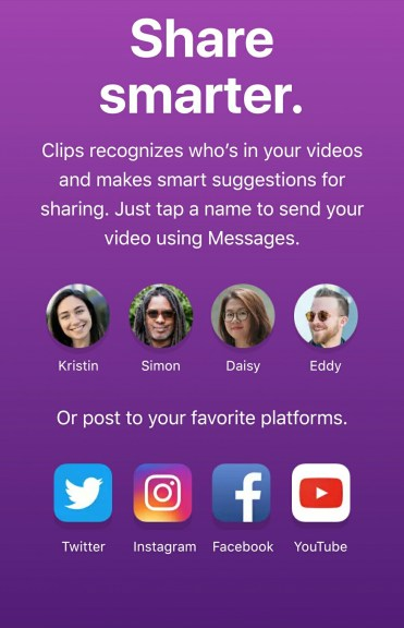 How does Clips app work?