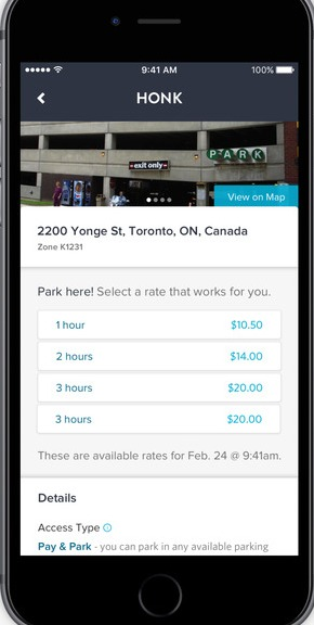 How to use Honk mobile app for parking?