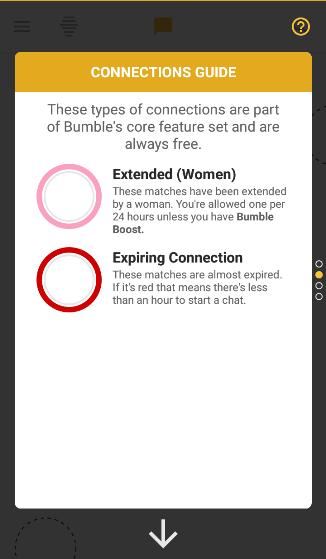 Icon bumble meanings app Help