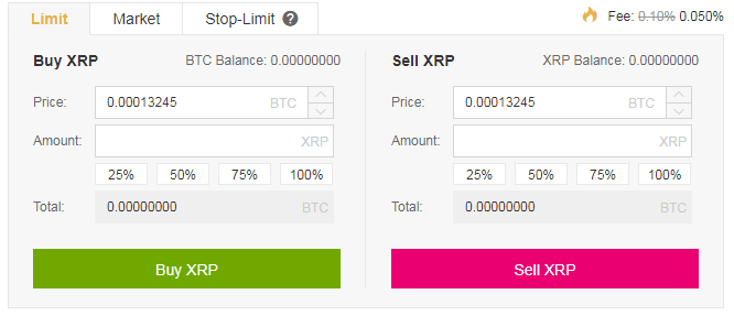 How to Convert BTC to Ripple in Binance