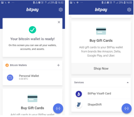 BitPay Confirm and Buy Gift card