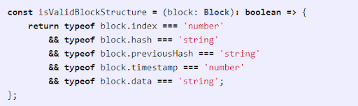 You must validate the structure of the block so that distorted content sent by a peer will not crash your node.