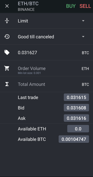 How To Use TabTrader Cryptocurrency Exchange App