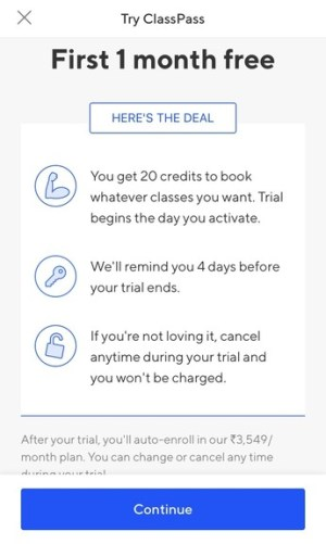 How to use ClassPass App Free