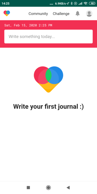 how to create a journal on the All-new Goodnight Journal app?