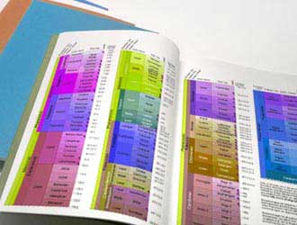 εκτυπωμένα και βιβλιοδετημένα τεύχη διπλωματικής εργασίας σε διάφορα χρώματα εξωφύλλου