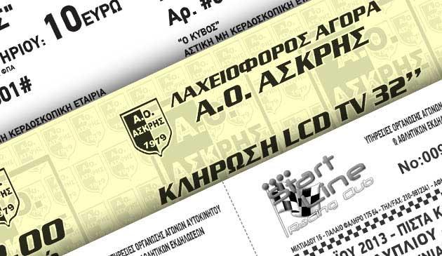 εισιτήρια μονόχρωμα σε άσπρο και χρωματιστό χαρτί