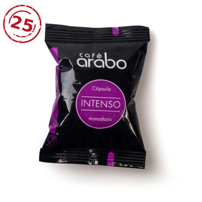 Estuche de 25 cápsulas de café arabo - Intenso