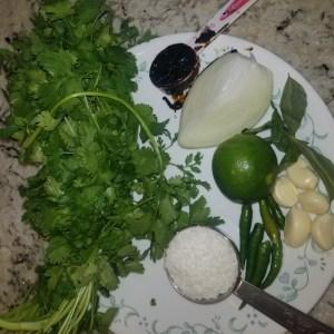 fresh ingredients for fish tikka