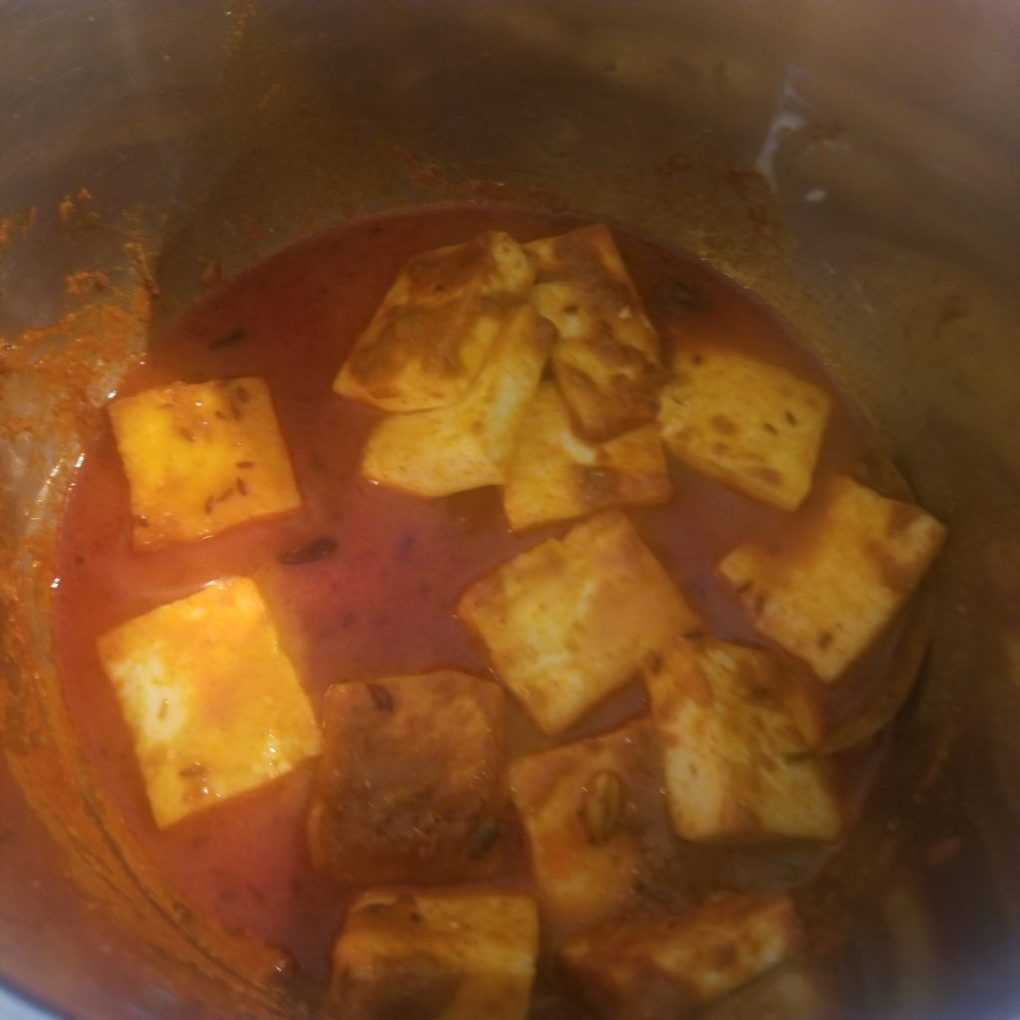 add fried paneer to instant pot