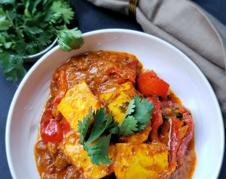 paneer and bell pepper