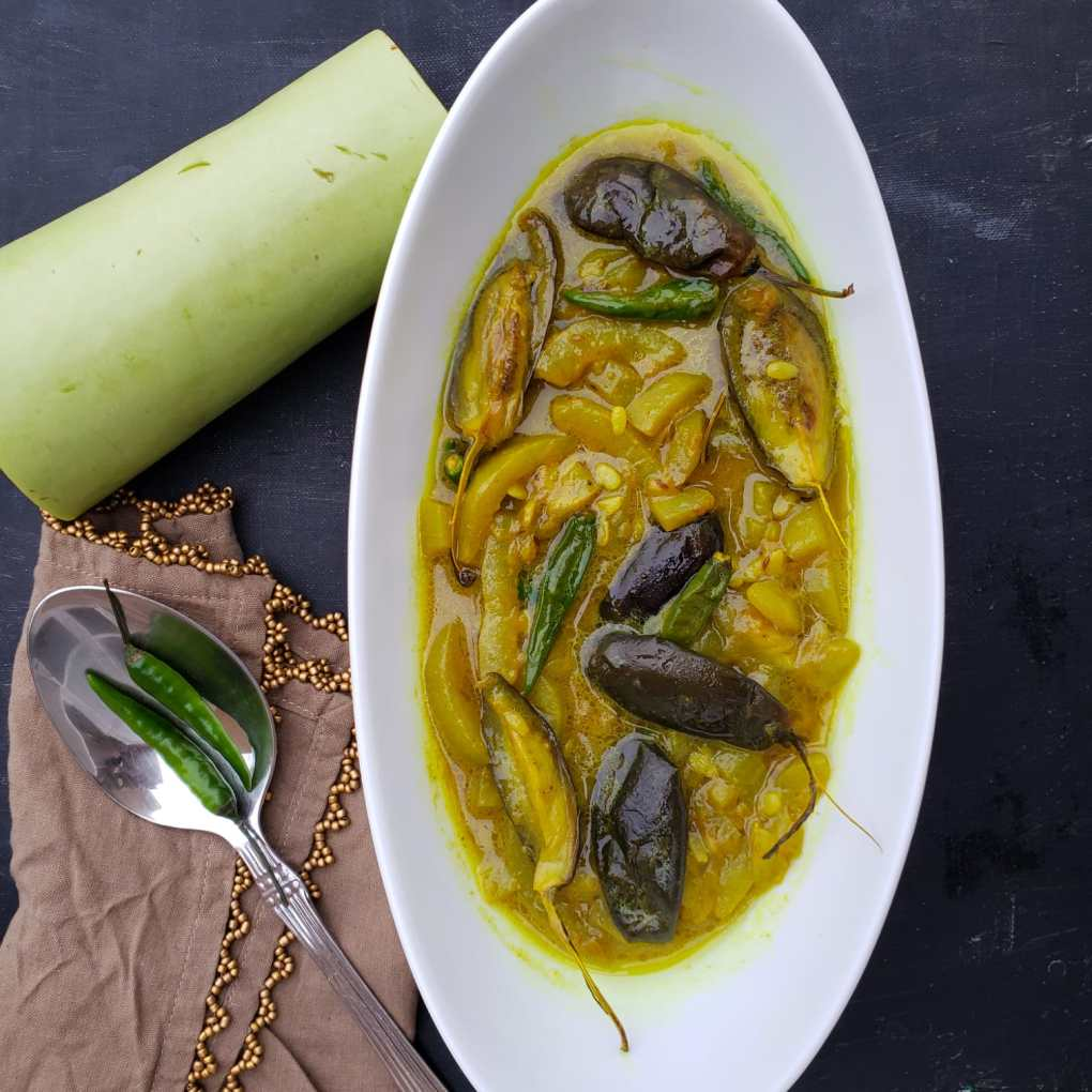 bottle gourd and eggplant