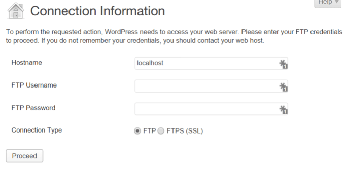 Wordpress Connection Informations
