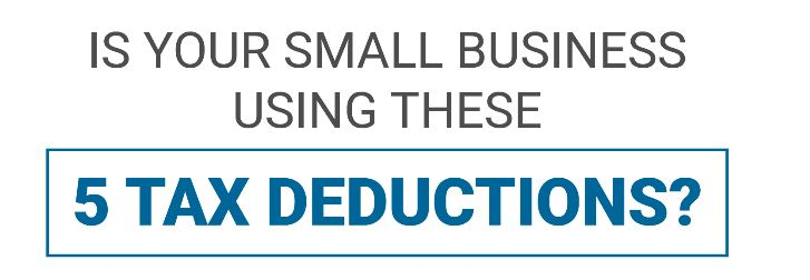 Is Your Small Business Using These 5 Tax Reductions Cover Image
