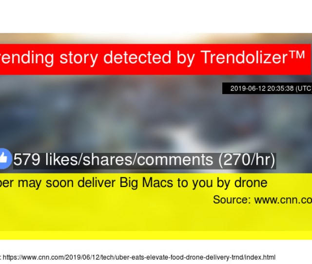 Uber May Soon Deliver Big Macs To You By Drone Stats