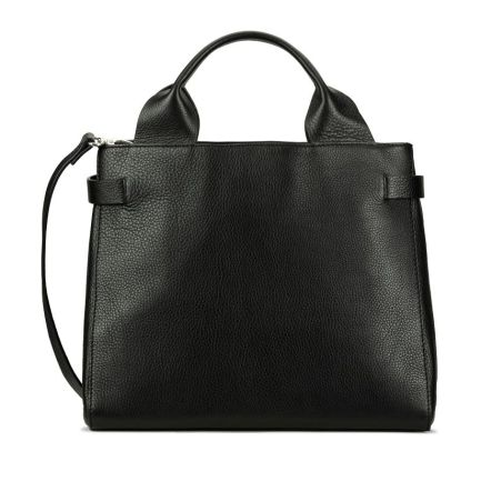 The Ella Large Black Leather