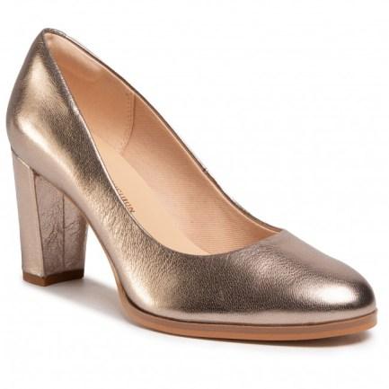 Kaylin Cara Leather Court Heels - Black