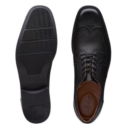 Tilden Wing Black Leather
