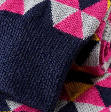 Triangle Socks - Pink & Yellow
