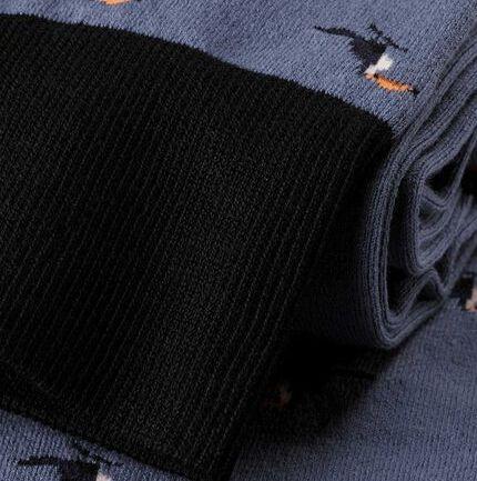 Jacquard Toucan Socks - Blue