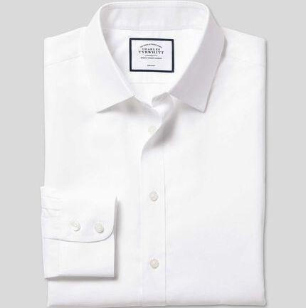 Non-Iron Twill Shirt - White