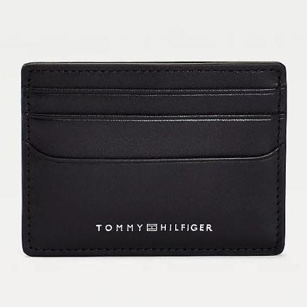 Black Metro Leather Credit Card Holder
