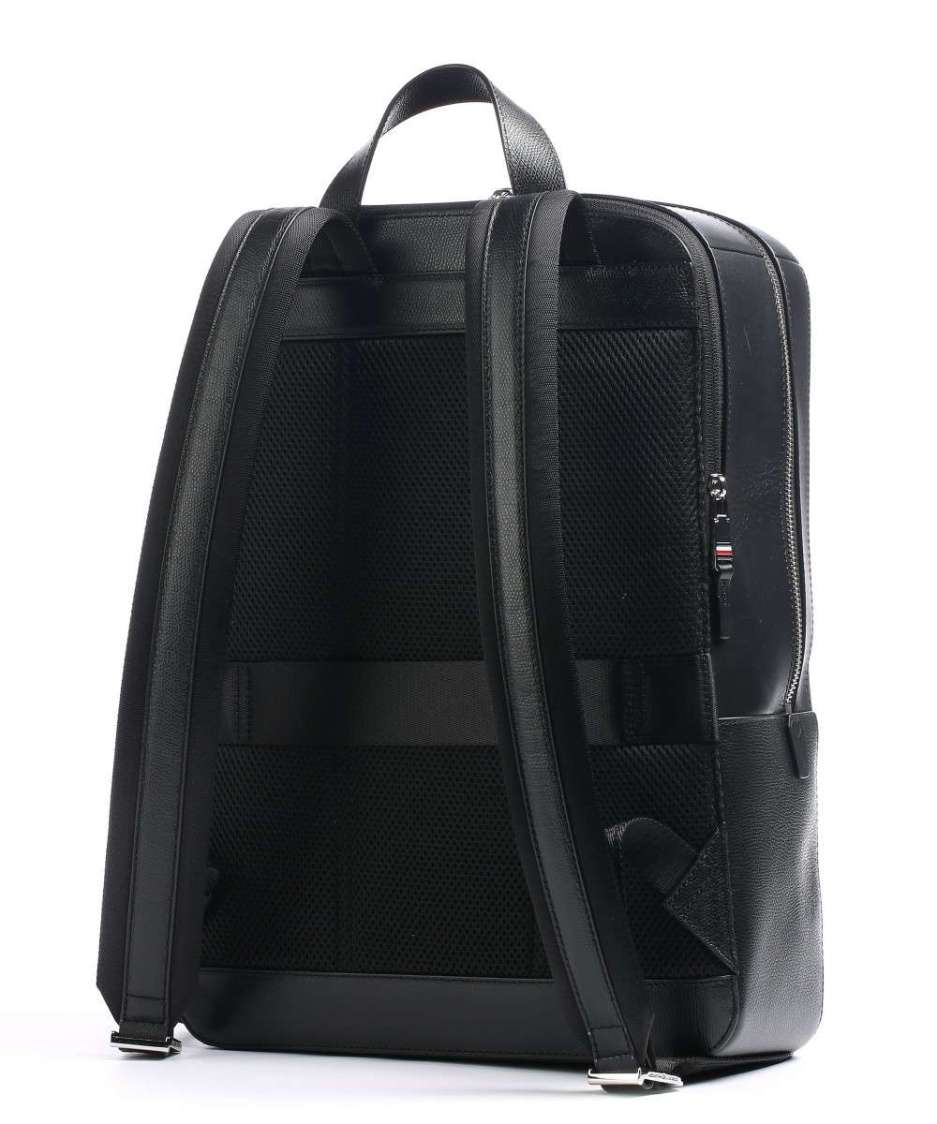 Business Leather Backpack 15″ leather black