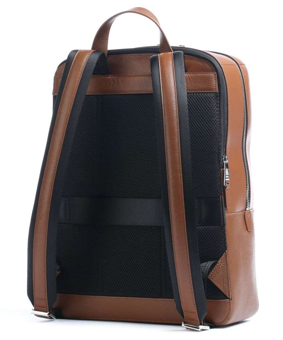 Business Leather Backpack 15″ leather cognac