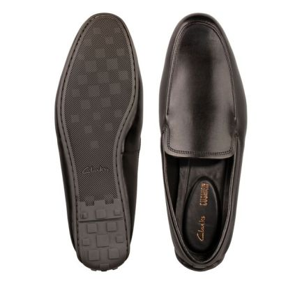 Reazor Plain Black Leather