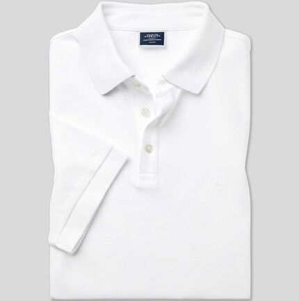 Pique Polo - White