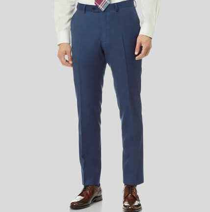 Twill Business Suit Trousers - French Blue