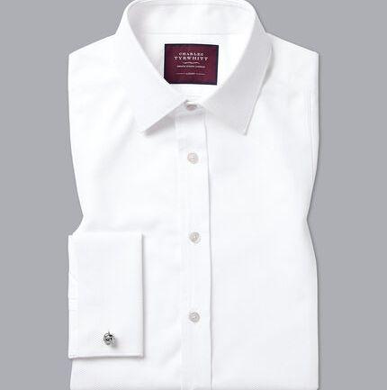 Marcella Bib Evening Shirt - White