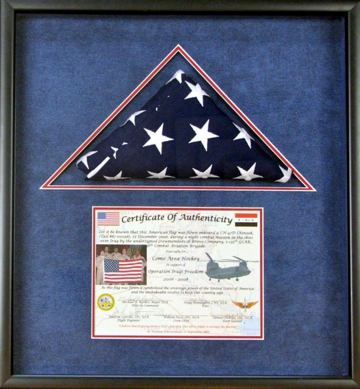 Frame For American Flag And Certificate | Frameswall.co