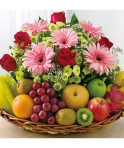 Fruit and Flowers Gift Basket
